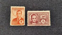 España 1945  IVERT  Nº231**232*  Aéreo  MNH/MH - Nuevos & Fijasellos