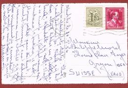 Min 10% : 2 Kaarten Knokke - Zwitserland Met Knipsel Gele Briefkaart Als Bijfrankering - 1946 -10%