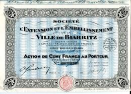 LT3  LOT DE 3 TITRES Basses Pyrénées Société Pour L'embelissement De La Ville De Biarritz - Shareholdings