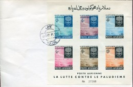 7156 Afganistan, Fdc 1962  Malaria,  Paludisme,  Bloc IMPERFORATED !!! - Afghanistan