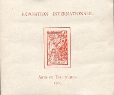 Détail De La Série Exposition Internationale De Paris * Madagascar N° BF 1 - 1937 Exposition Internationale De Paris