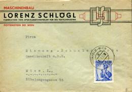 AUSTRIA 1952 TPO COVER HAINFELD-WIEN - 1945-.... 2ème République