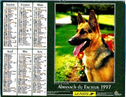 ALMANACH DU FACTEUR 1997 (57) - Complet ** BERGER ALLEMAND - TROTTEURS DU HARAS CRUCHETTES ** - Calendrier OLLER N°211 - Calendriers
