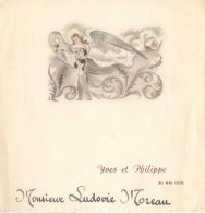 Menu De Communion De Yves Et Philippe Le 30.05.1956 - Le Dîner - Bonne Nuit ... A Demain. - Menus
