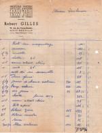Facture Non Datée En Anciens Francs - Droguerie Robert Gilles 28 R. Des Frères Delattre - Le Petit-Quevilly 76140 - Droguerie & Parfumerie