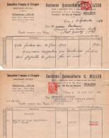 2 Factures De 1953 En Anciens Francs - Quincaillerie Française Et Etrangère G. Milan - 23 R. De L'hôpital 76000 Rouen - Chemist's (drugstore) & Perfumery