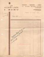 Facture De 1949 Anciens Francs - Les Alliages Légers - I. Bohu - 13 Pl. Michel-Touyé - Canteleu 76380 - - Chemist's (drugstore) & Perfumery