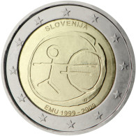 "Slovenia 2 Euro Coin 2009 ""10th Anniversary Of The EMU"" UNC - Slowenien"