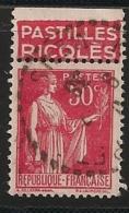 Timbre à Bande Publicitaire Type Paix IV 50c Rouge N° 283. Pub Publicité Réclame Carnet - Advertising