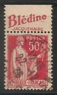 Timbre à Bande Publicitaire Type Paix III 50c Rouge N° 283. Pub Publicité Réclame Carnet - Advertising