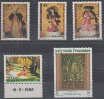 LOT TIMBRES DE LA POLYNESIE FRANCAISE 1986 - Polinesia Francese