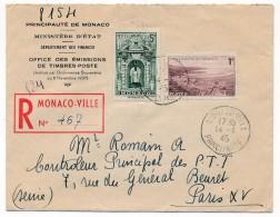 MONACO => Enveloppe R Affranchissement Composé 1945 - Monaco