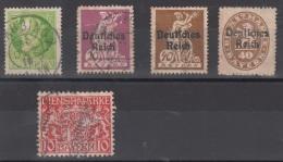 LOT TIMBRES DE LA BAVIERE 1914/1920 - OBLITERES - Bavaria