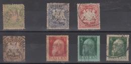 LOT TIMBRES DE LA BAVIERE 1867/1911 - OBLITERES - Bavaria