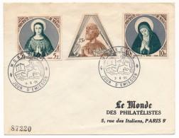 MONACO => Enveloppe Affranchissement Composé - Premier Jour - 7/06/1955 - Monaco