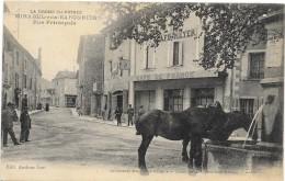MIRABEL-aux-BARONNIES  (cpa 26)  Rue Principale  - Chevaux à L´abreuvoir - Café De France - - France