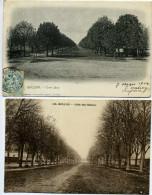03 - Moulins - Allée Des Gateaux - Lot De 2 Cartes. - Moulins