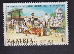 Zambie. 10e Anniversaire De L'indépendance. Commerce 120 - Zambie (1965-...)
