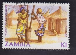 Zambie. Artisanat: Broyage Du Maïs. 273 - Zambie (1965-...)