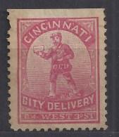 CINCINATI émission Prive De 1864 Compagnie De Distribution Dans La Ville - Postzegels