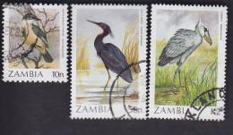 Zambie. Oiseaux: 389, 395/96 - Zambie (1965-...)