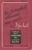 TRACT PROPAGANDE CONFERENCE DOCTEUR FRIEDRICH RADIO PARIS 1943 COLLABORATION REICH - 1939-45