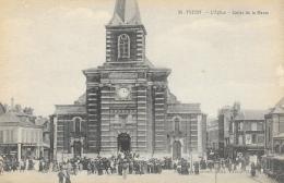 Yvetot - L'Eglise - Sortie De La Messe - Edition Delamare - Carte Non Circulée - Yvetot