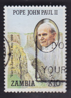 Zambie. Voyage Du Pape Jean-Paul Ll. 468 - Zambie (1965-...)