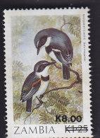 Zambie. Surchargé. Oiseaux. 487 - Zambie (1965-...)