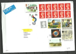 Great Britain 2016 Cover To Estonia With Many Stamps - 1952-.... (Elizabeth II)