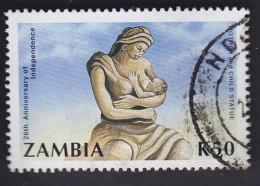 """Zambie. Statue """"la Mère Et L'enfant"""" 521  Petit Pli - Zambie (1965-...)"""