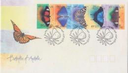 Enveloppe Premier Jour 1998 - AUSTRALIE - PAPILLON - BUTTERFLY FDC - SCHMETTERLING ETB - MARIPOSA - Mariposas