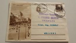 ROMA VIA DELL'IMPERO Italia Cartolina Postale Da Trapani Vittorio Emanuele III  Usata Usato Intero 1936 Regno D´ - 1900-44 Vittorio Emanuele III
