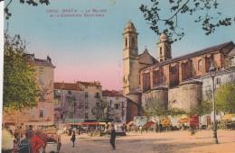 Bastia , Le Marché Et La Cathédrale St Jean ,n° 12680 - Bastia
