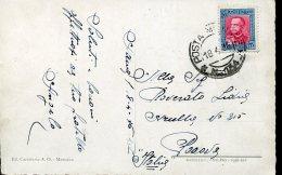 7209 Eritrea,  Circuled Card  1936 From Italian  Militar Post Office To Italy - Eritrea