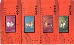 ZODIAC ZODIAQUE TIERKREIS ASTROLOGY ASTROLOGIE Astronomy YEAR OF DOG  HONGKONG CHINA  2006  RED POCKET Dogs - Hunde