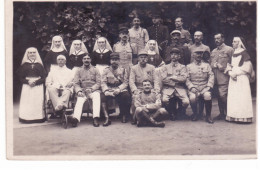 Carte-photo - Blessés De Guerre Avec Religieuses - Weltkrieg 1914-18