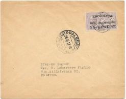 "LPP14 - ITALIE  AEROGRAMME ""IDROVOLANTE NAPOLI-PALERMO-NAPOLI 25 CENT 25"" OBL. PALERMO 28/6/1917 - 1900-44 Victor Emmanuel III"