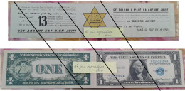 Anti-judaïca 1$ US Double Volet Recto Verso, Propagande Haineuse, Morgenthau , - Autres