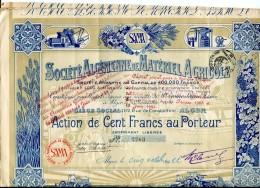 LT4 LOT DE 6 TITRES Société Algérienne De Matériel Agricole - Agriculture