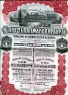 LT4 LOT DE 3 TITRES, Brazil Railway Compagnie, Compagnie Des Chemins De Fer Du Brézil - Chemin De Fer & Tramway