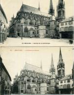 03 - Moulins - Chevet De La Cathédrale - Lot De 7 Cartes. - Moulins