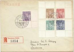 LPP14 - ITALIE  CAMPIONE D'ITALIA EMISSION LOCALE SUR LETTRE RECOMMANDÉE 2/8/1944 - Autres