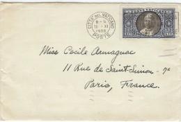 LPP14 - CITE DU VATICAN LETTRE AVEC CONTENU ADRESSEE PAR ELMER Mc NAMARA A CECILE ARMAGNAC 16/11/1936 - Lettres & Documents