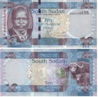 Sudán Del Sur - South Sudan 10 Pounds 2011 Pick 7 UNC - Sudán Del Sur