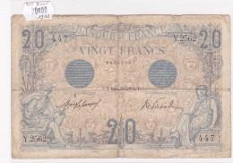 Billet De 20 Francs BLEU Du 5 Septembre 1912  @ Y.2562 Alphabet 447 @ N° Fayette : 10.2 - 1871-1952 Circulated During XXth