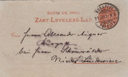 Entier CaD Budapest 1891