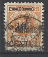 Memel - 1923 - Usato/used - Sovrastampati - Mi N. 169 - Memel (1920-1924)