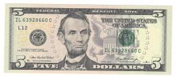 N. 1 Banconota 5 USD Series 2006 FDS - Bilglietti Della Riserva Federale (1928-...)