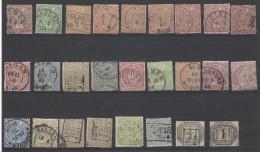Norddeutscher Bund - 1868/69 - Usato/used - Lotto - Norddeutscher Postbezirk (Confederazione Germ. Del Nord)